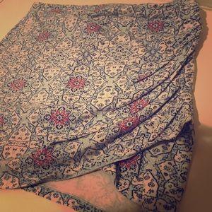 Bohemian stretch mini skirt
